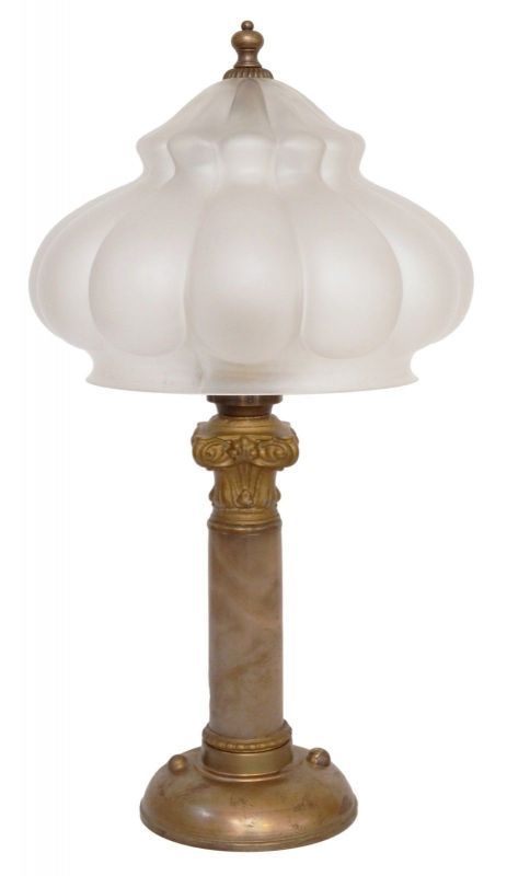 Tolles Unikat original Jugendstil Tischleuchte Messinglampe 1920 Berlin