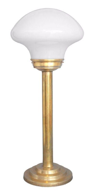 Klassische Art Déco Schreibtischleuchte Mid Century Tischlampe Messing Pilz 0