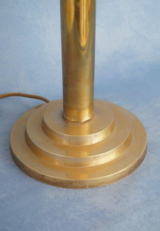 Klassische Art Déco Schreibtischleuchte Mid Century Tischlampe Messing Pilz 4
