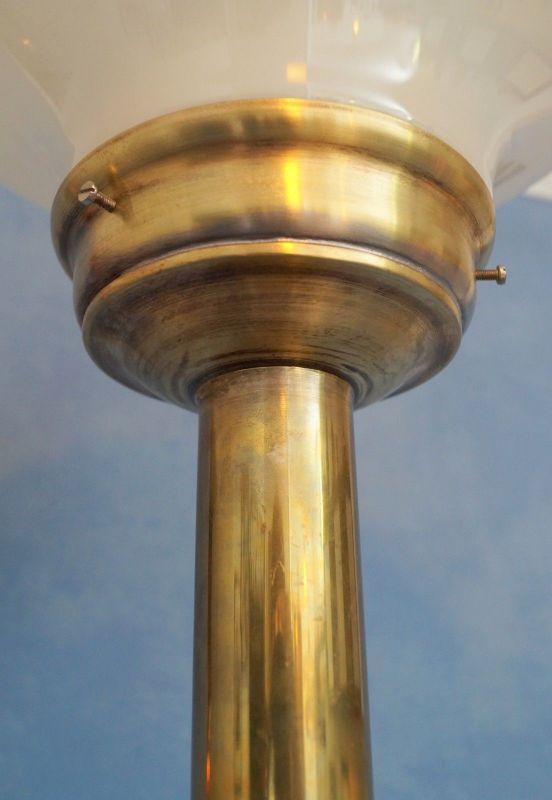 Klassische Art Déco Schreibtischleuchte Mid Century Tischlampe Messing Pilz 6
