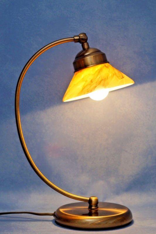 Elegante Jugendstil Schreibtischlampe Messinglampen Berlin Tischleuchte Messing