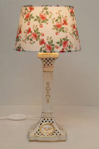 Romantische Rosen Lampe Keramik neuer Schirm