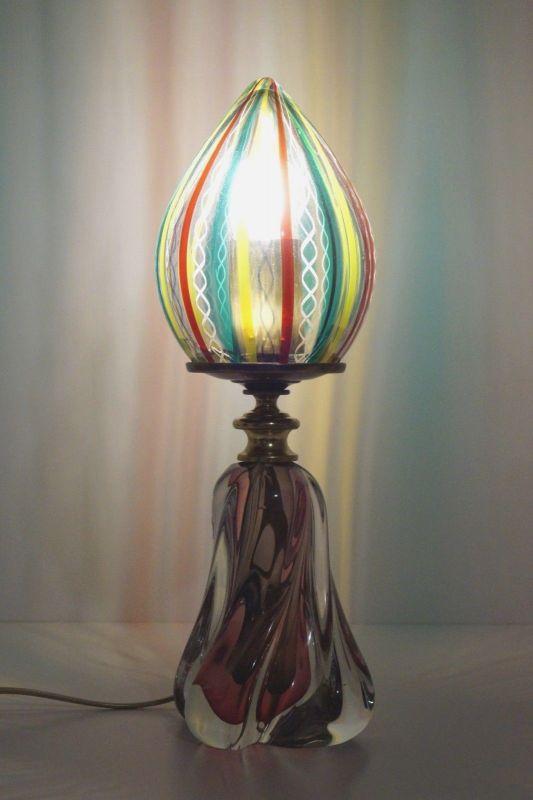 Unikate Designer Tischlampe Künstler Tischleuchte Bleikristal Lampe