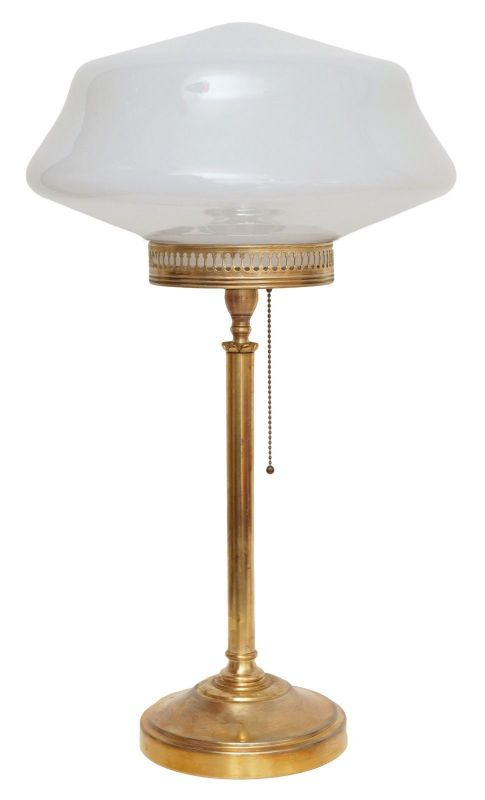Elegante original Art Déco Tischleuchte Messinglampe Berlin 1930 Schreibtisch