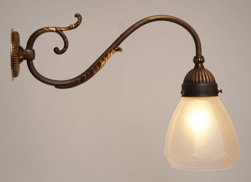 Einzigartige orig. französische Jugendstil Messing Wandlampen Wandleuchte 1920