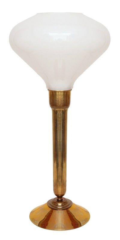 Einzigartige Art Déco Salon Tischlampe Schreibtischlampe Messing Berlin