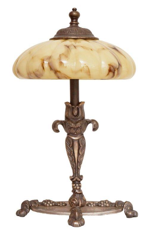 Wunderschöne orig. Jugendstil Tischlampe Nachttisch 1910 versilbert 2 Stk. verfg