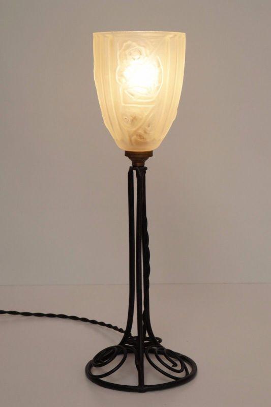 Klassische französische original Jugendstil Art Nouveau Tischlampe Lampe