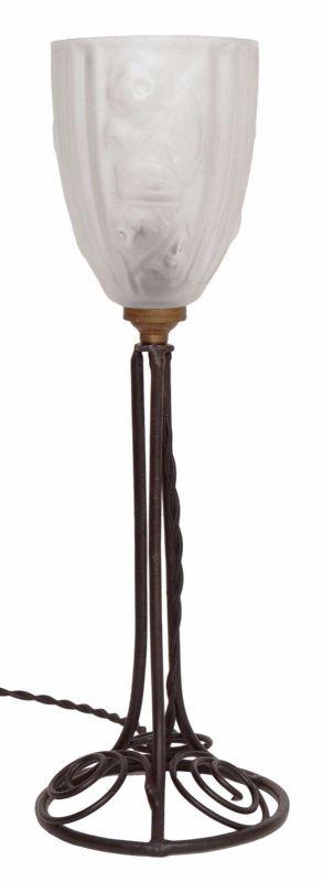 Klassische französische original Jugendstil Art Nouveau Tischlampe Lampe 1