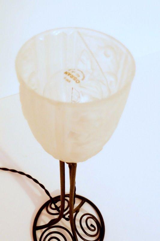 Klassische französische original Jugendstil Art Nouveau Tischlampe Lampe 4