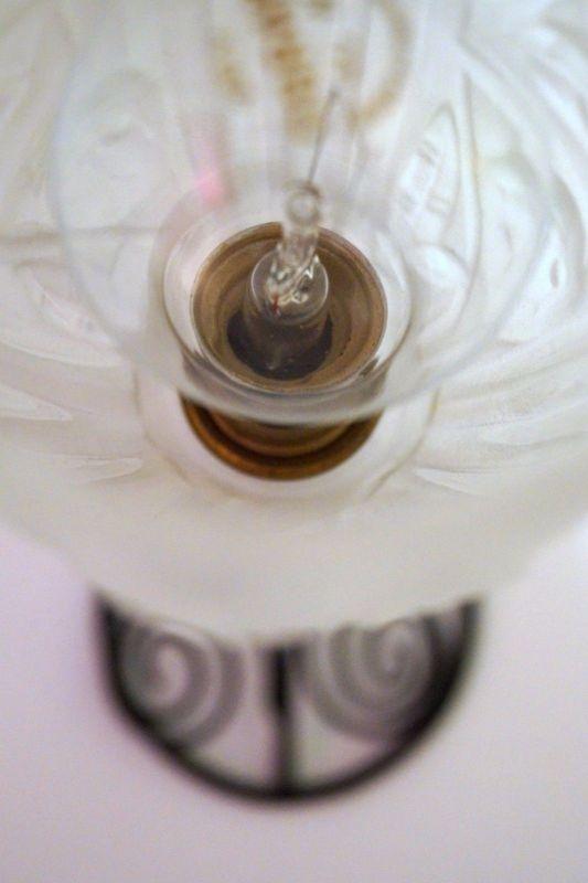 Klassische französische original Jugendstil Art Nouveau Tischlampe Lampe 5
