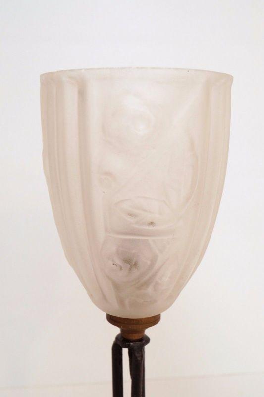 Klassische französische original Jugendstil Art Nouveau Tischlampe Lampe 6