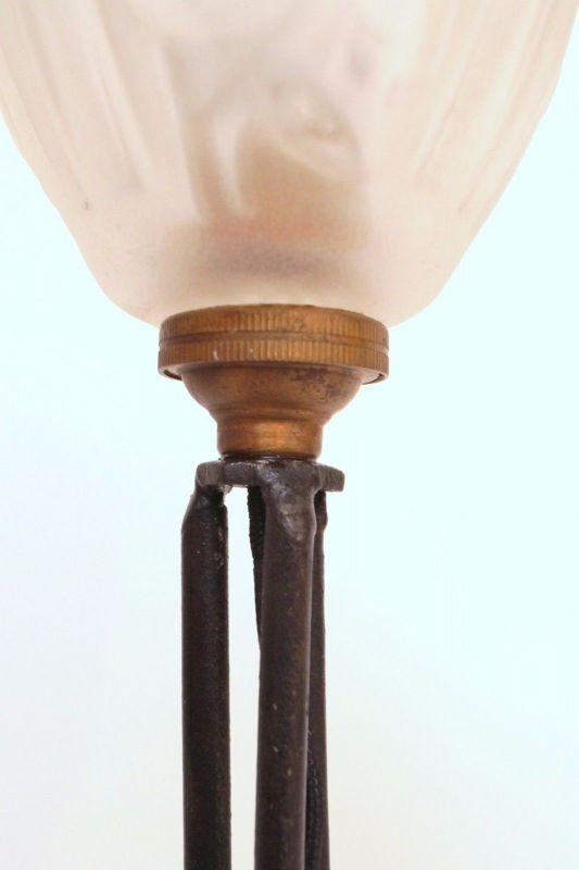 Klassische französische original Jugendstil Art Nouveau Tischlampe Lampe 8