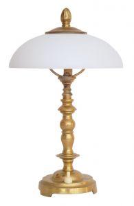 Schöne zierliche Jugendstil Shabby Chic Nachttischlampe Messing