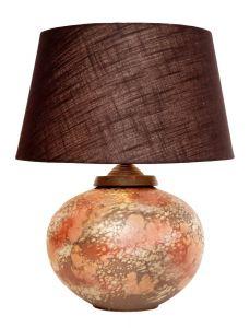 Tischlampe Steingut elegant neuer Stoffschirm