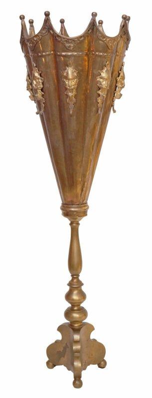 Tolles Unikat Jugendstil Messinglampe Tischleuchte Lampe