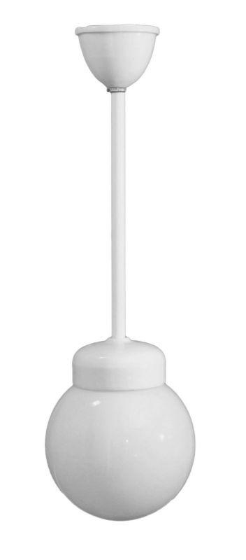 Original Art Deco Hängeleuchte Deckenlampe Bauhaus Wagenfeld kmpl.Porzellan 1930