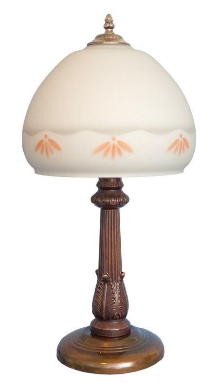 Einzelstück Jugendstil Shabby Chic Tischlampe Jugendstil Schreibtischleuchte