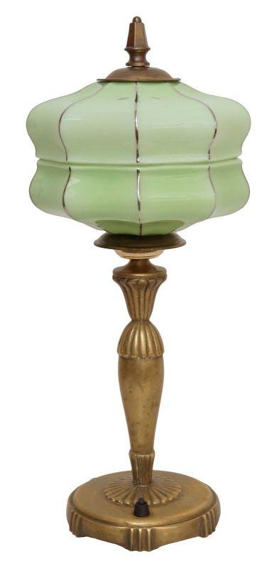 Wunderschöne original Art Deco Tischlampe Messinglampe Berlin Unikat 1930