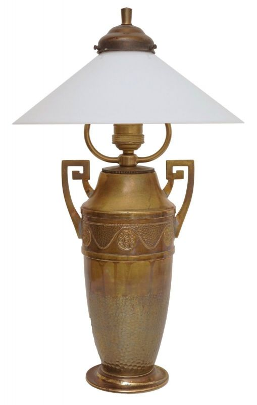 Wunderschöne original Jugendstil Tischleuchte Messinglampe Berlin Lampe
