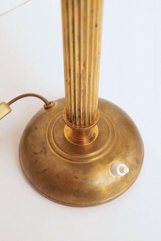 Original Art Déco Tischleuchte Tischlampe Mazda Messinglampe 1940er 2