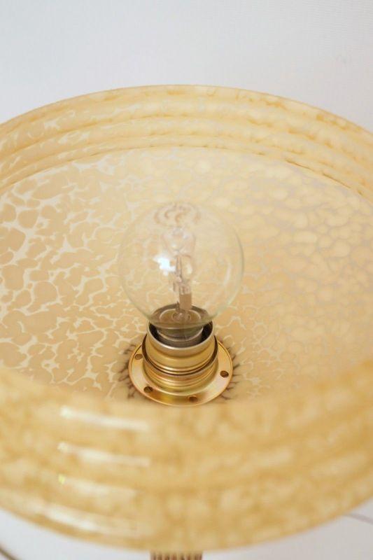 Original Art Déco Tischleuchte Tischlampe Mazda Messinglampe 1940er 3