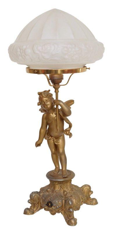 Prachtvolle original Jugendstil Tischleuchte