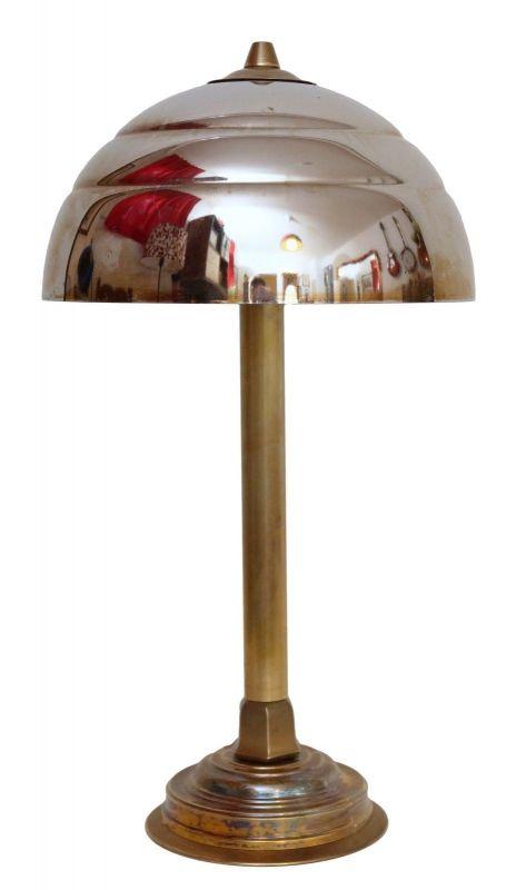 Unikate Art Déco Arbeitslampe Messinglampe Schreibtischleuchte Werkstatt