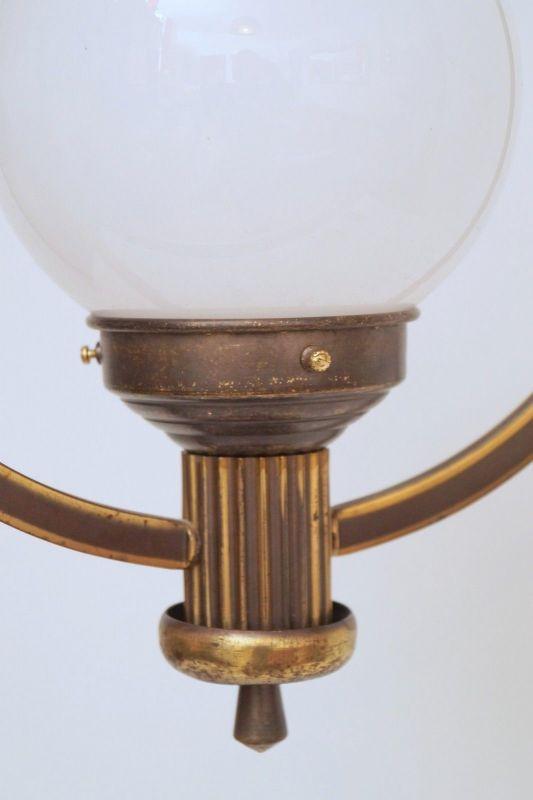Original Art Déco Deckenlampe Hängelampe Sputnik Messinglampe 1930er 2