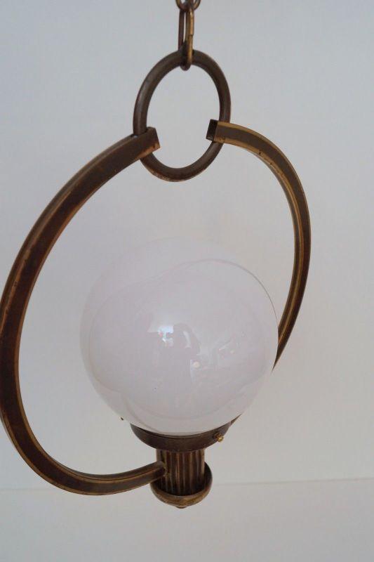 Original Art Déco Deckenlampe Hängelampe Sputnik Messinglampe 1930er 4