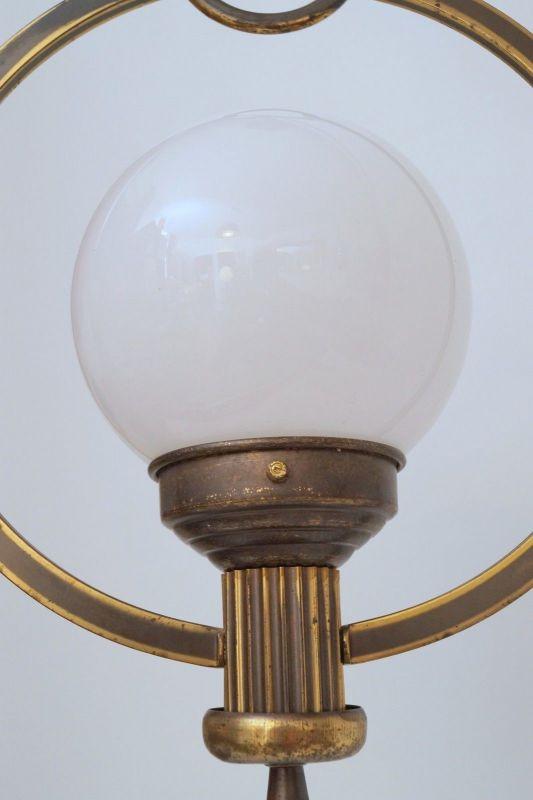 Original Art Déco Deckenlampe Hängelampe Sputnik Messinglampe 1930er 6