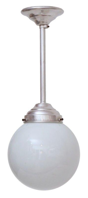 Franz. original Art Déco Deckenlampe Kugelleuchte Aluminium 1930er Hängelampe