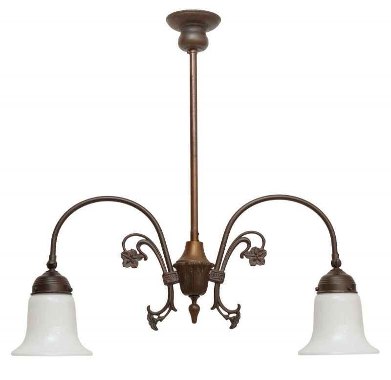 Wunderschöne Jugendstil Messinglampe Berlin Deckenleuchte Landhaus Deckenlampe
