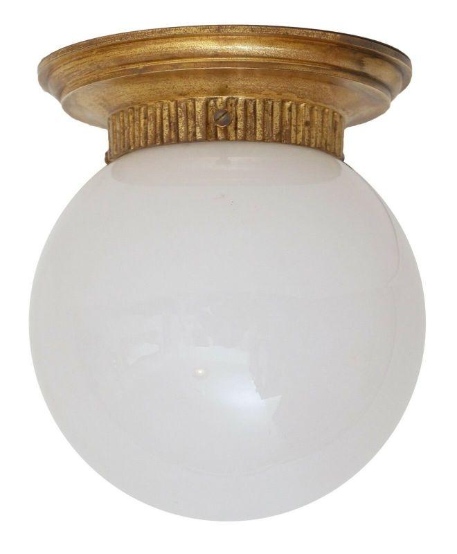 Zierliche original Jugendstil Art Deco Deckenleuchte Messinglampe Berlin 1920