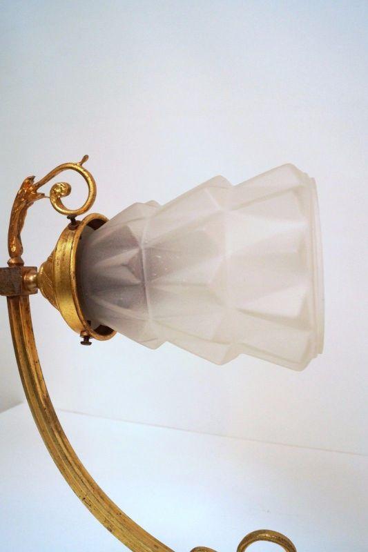 Jugendstil Wandlampe Feuervergoldet um 1900 original 4