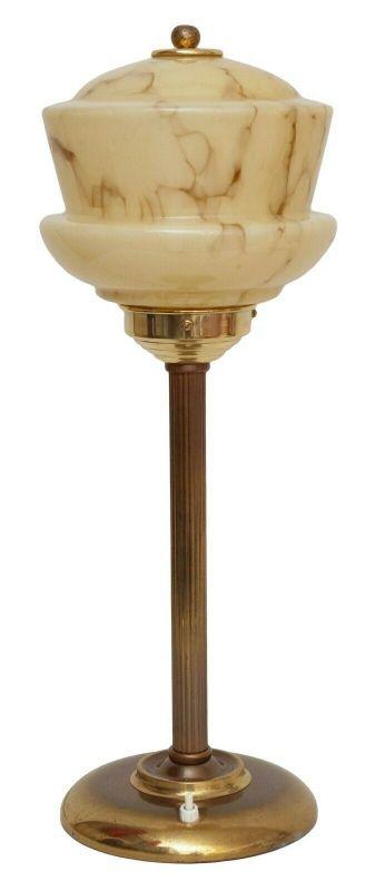 Wunderschöne original Art Déco Tischlampe Messinglampe Berlin Schreibtisch