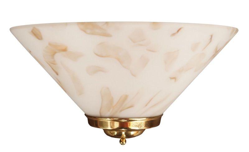 Sehr schöne Landhaus Wandleuchte Opalglas Wandlampe Plafoniere Plafonier