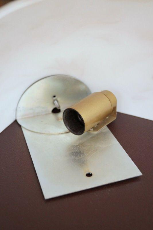 Sehr schöne Landhaus Wandleuchte Opalglas Wandlampe Plafoniere Plafonier 2