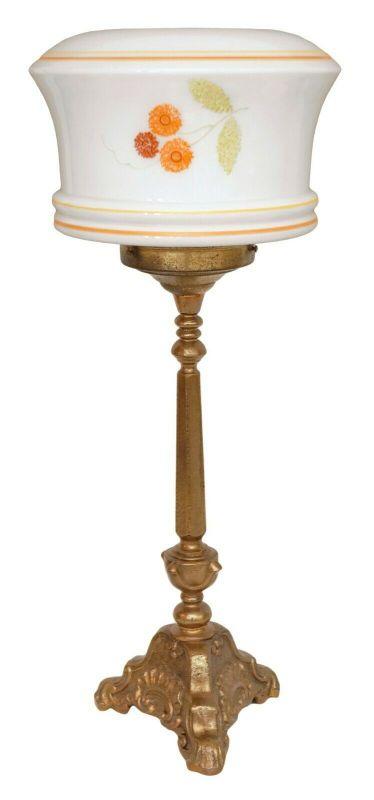 Unikate original Jugendstil Tischleuchte Messinglampe Schreibtisch 1920