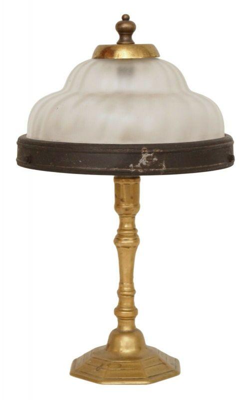Unikate original Jugendstil Tischlampe Messinglampe Tischleuchte