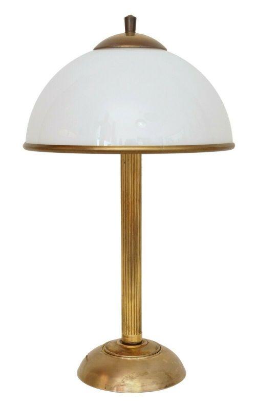 Klassische Jugendstil Messinglampe Berlin Tischleuchte Schreibtischlampe Unikat