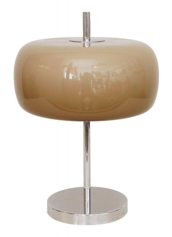 Original Hillebrand Nachttischlampe UFO Space Age Tischlampe
