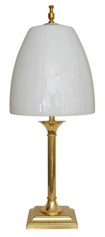 Unikate sehr große Design Tischlampe Schreibtischleuchte Lampe Messinglampe