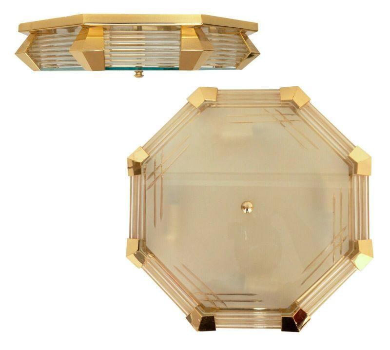 Sehr elegante spanische Design Deckenlampe Plafoniere Deckenleuchte Messinglampe