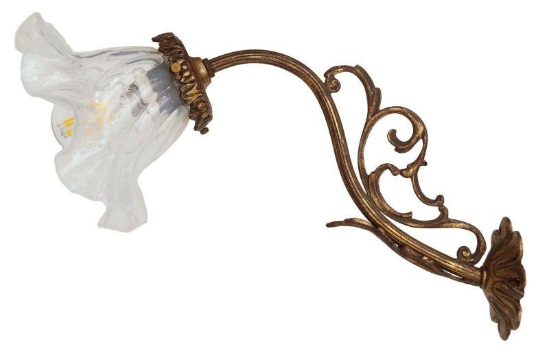 Original französische Jugendstil Wandlampe Wandleuchte Messinglampe Berlin 1910