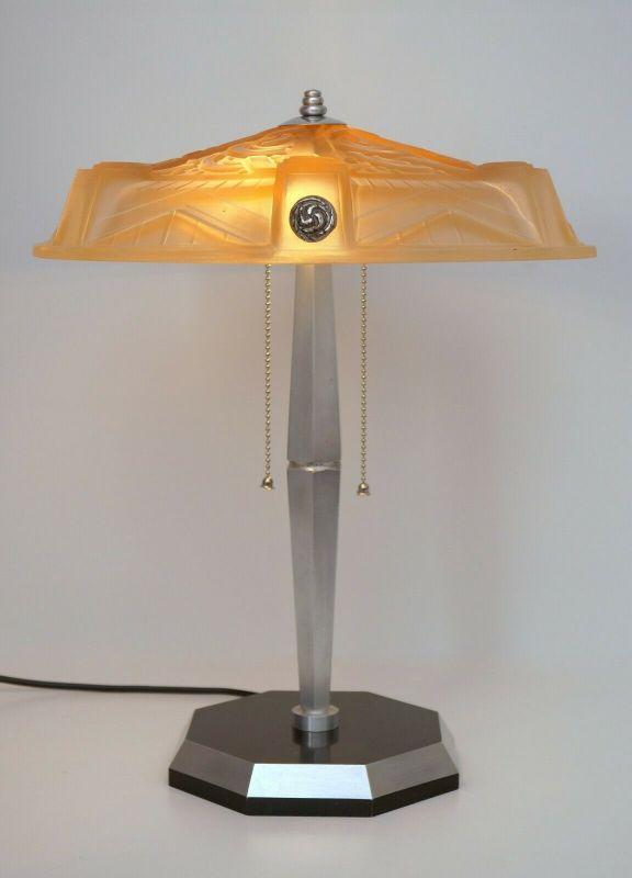 Einzigarige original Art Déco Lampe Muller 1930 Sammlerstück