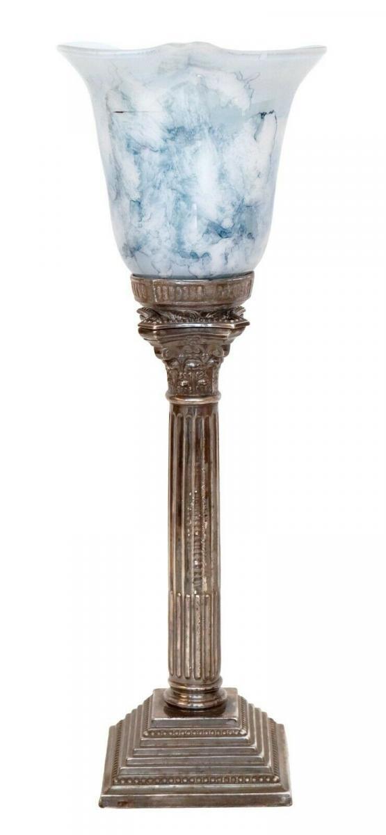 Elegante Jugendstil Art Déco Tischlampe Unikat Lampe Tischleuchte