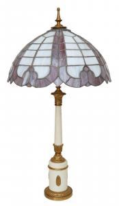 Sehr große einzigartige Tiffany Boden- Tischleuchte Schreibtischlampe Stillampe