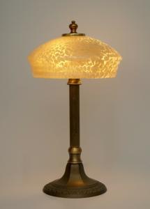 Zierliche original Art Déco Tischlampe Berlin Messinglampe Schreibtischleuchte