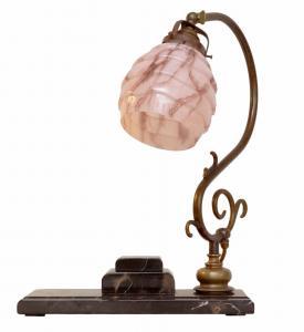 Unikat original Art Déco Bauhaus Bankerleuchte Bankerlampe Schreibtisch Marmor